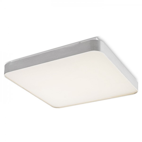 RENDL surface mounted lamp MENSA SQ 80 ceiling brushed aluminum 230V LED 138W 3000K R12121 1