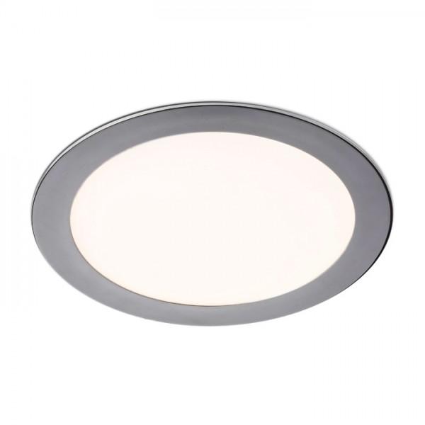 RENDL luminaire plafond SLENDER R 22 encastré chrome noir 230V LED 18W 3000K R12122 1