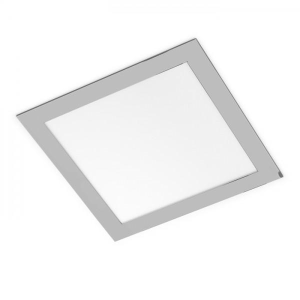 RENDL luz empotrada SLENDER SQ 22 empotrada cromo negro 230V LED 18W 3000K R12126 1