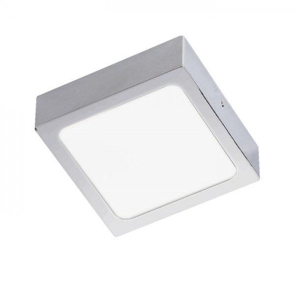 RENDL luminaire en saillie SLENDER SLIM SQ 9 montage en surface chrome noir 230V LED 8W 3000K R12142 1