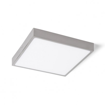 RENDL luminaire encastrable SLENDER SLIM SQ 22 montage en surface chrome noir 230V LED 30W 3000K R12150 1