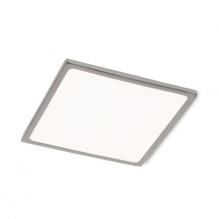 RENDL luz empotrada SLENDER SLIM SQ 17 empotrada cromo negro 230V LED 24W 3000K R12170 1