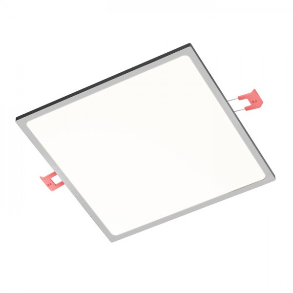 RENDL recessed light SLENDER SLIM SQ 22 recessed black chrome 230V LED 30W 3000K R12174 1