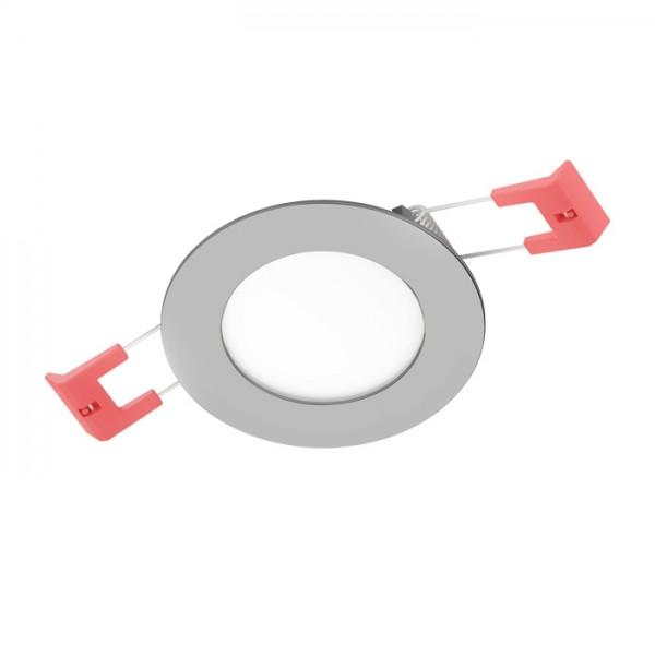 RENDL vestavné světlo SLENDER R 8 zápustná černý chrom 230V LED 3W 3000K R12178 1