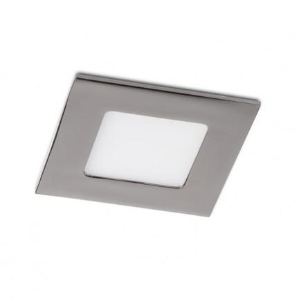 RENDL verzonken lamp SLENDER SQ 8 inbouwlamp Zwart chroom 230V LED 3W 3000K R12186 1