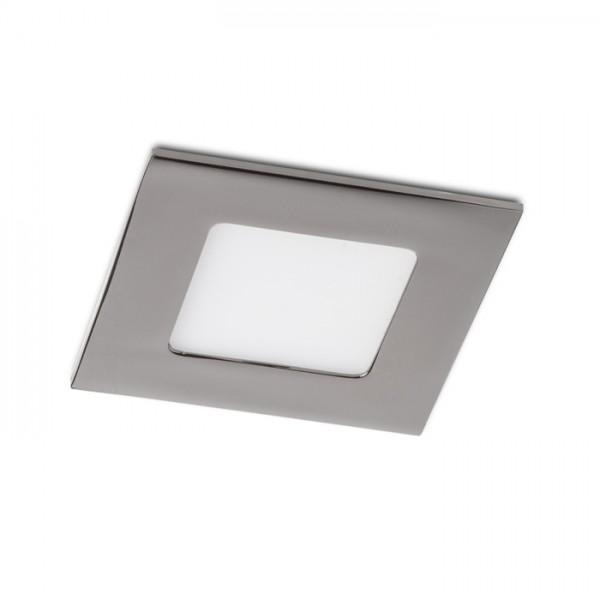 RENDL luminaire plafond SLENDER SQ 8 encastré chrome noir 230V LED 3W 3000K R12186 1