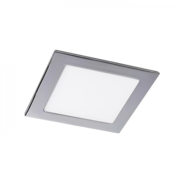 RENDL recessed light SLENDER SQ 17 recessed black chrome 230V LED 12W 3000K R12190 1