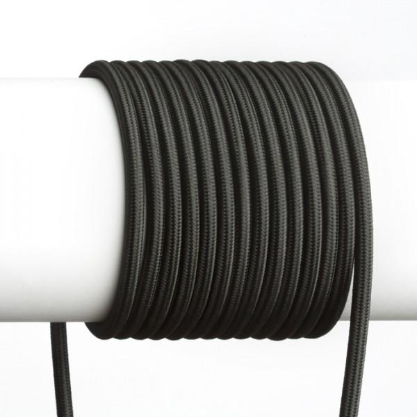 FIT 3x0,75 1bm textilný kábel čierna