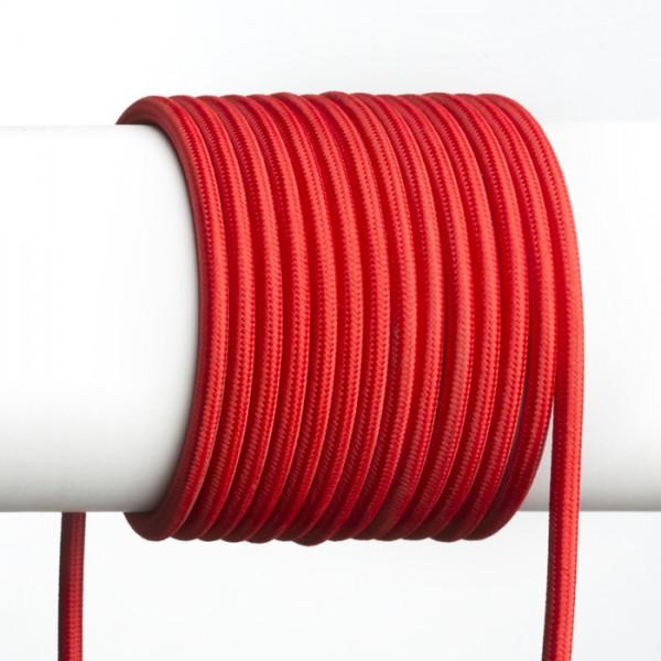 FIT 3x0,75 1bm textilný kábel červená
