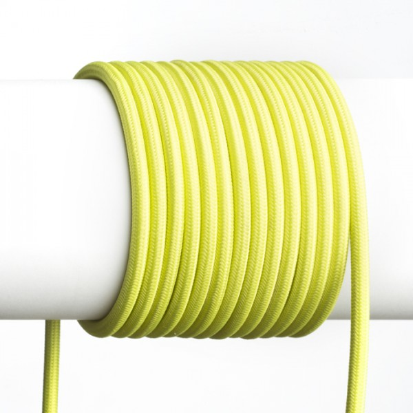 FIT 3x0,75 1bm textilný kábel limetková