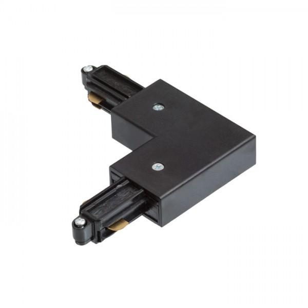 RENDL LED-bånd og systemer 1F L samlestykke med tilslutning, udvendig jord sort 230V R12267 1