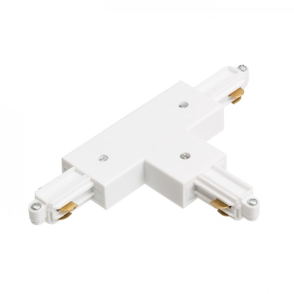 RENDL LED-bånd og systemer 1F T samlestykke med tilslutning, jord venstre hvid 230V R12272 1