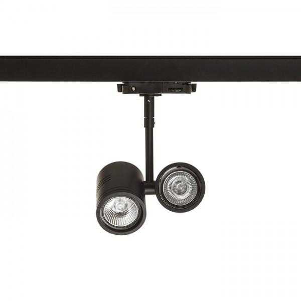 RENDL Track lights, LED strips and system lighting BEEBA II for 3-circuit tracks black 230V GU10 2x35W R12313 1