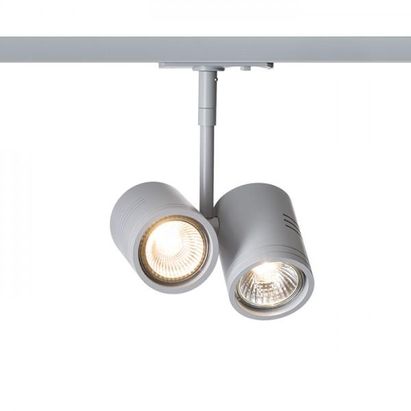 RENDL LED-bånd og systemer BEEBA II for 1-faset skinne sølvgrå 230V GU10 2x35W R12315 1