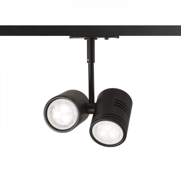 RENDL Track lights, LED strips and system lighting BEEBA II for 1-circuit tracks black 230V GU10 2x35W R12316 1