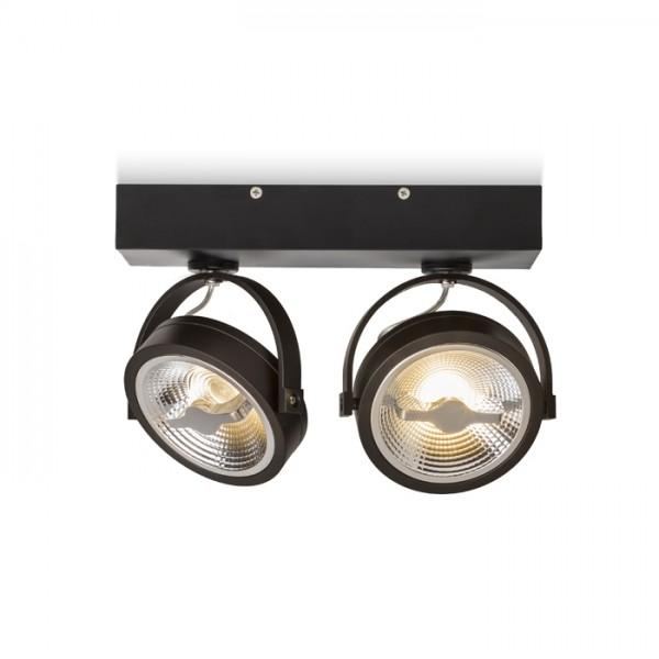 KELLY LED II nástenná čierna  230V LED 2x12W 24°  3000K