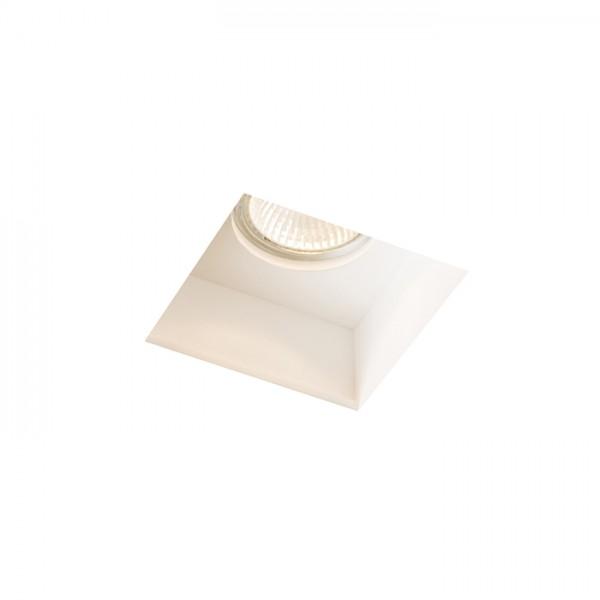RENDL luminaire plafond DAG SQ encastré plâtre 230V GU10 35W R12355 1