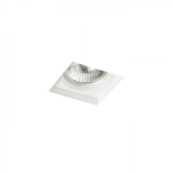 RENDL recessed light DANDY SQ recessed plaster 230V GU10 35W R12363 1