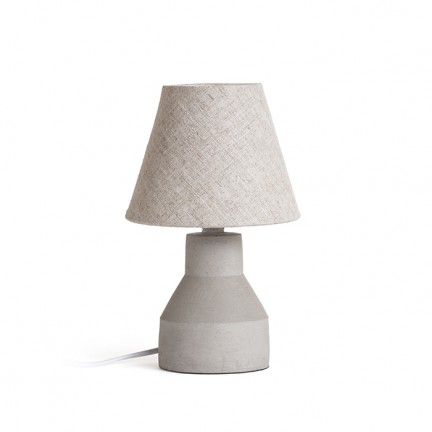 RENDL table lamp HEIDI table natural/concrete 230V E14 12W R12379 1