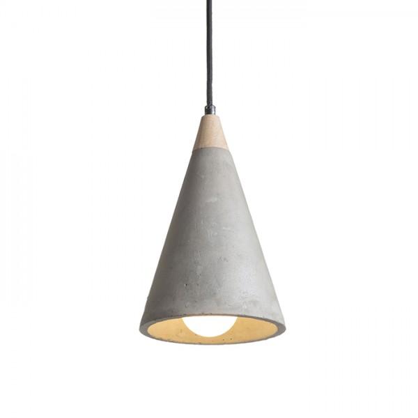 RENDL függő lámpatest HEIDI függeszték beton/fa 230V E27 28W R12380 1