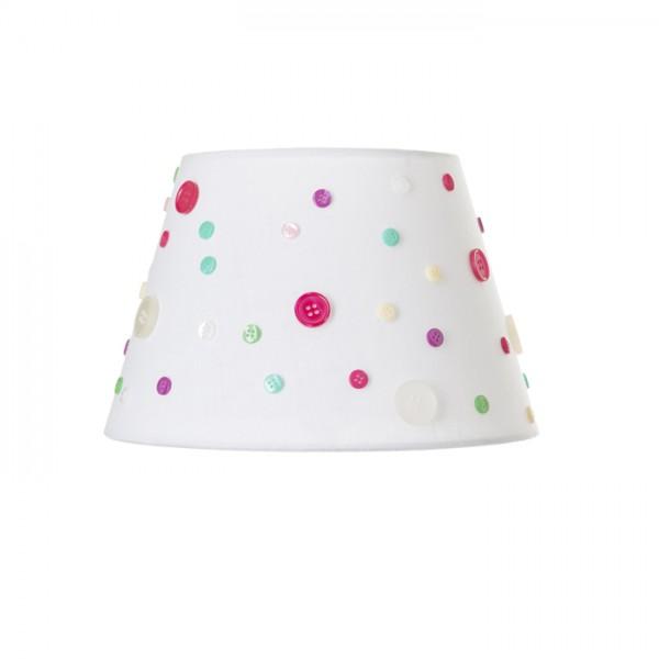 RENDL lampenkappen DELISA 25/16 lampenkap zuiver wit Knoppen max. 28W R12388 1