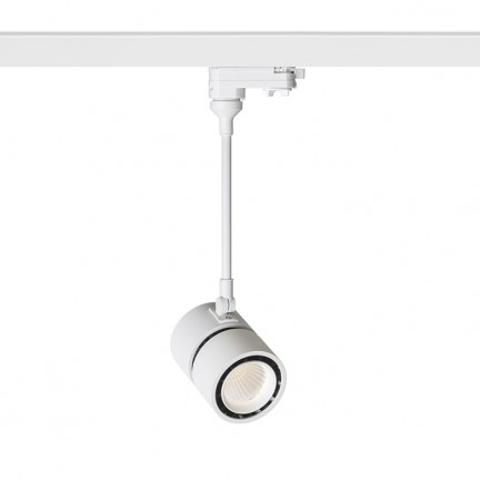 RENDL LED-bånd og systemer INDY 210 for 3-faset skinne hvid 230V LED 10W 38° 3000K R12410 1