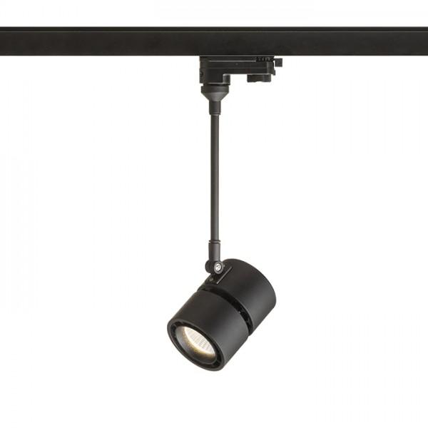 RENDL LED-bånd og systemer INDY 210 for 3-faset skinne sort 230V LED 10W 38° 3000K R12411 1