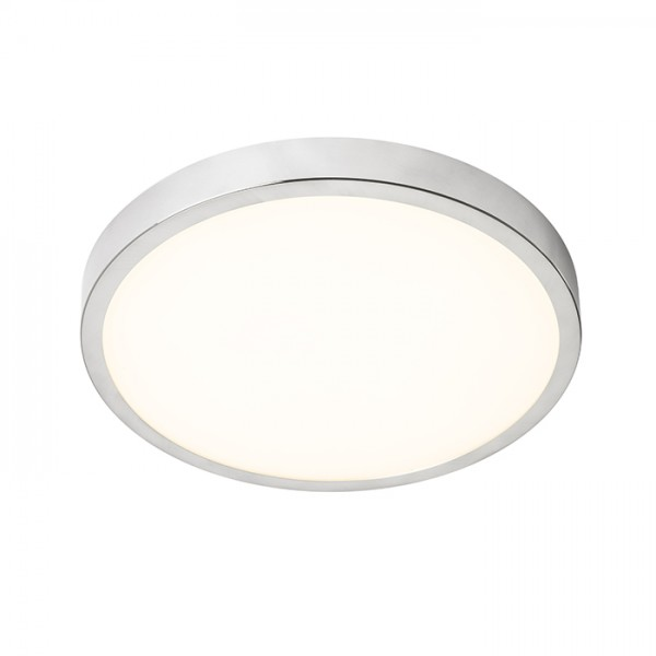 RENDL luminaire encastrable CYLIA 36 plafond chrome 230V LED 24W IP44 3000K R12428 1