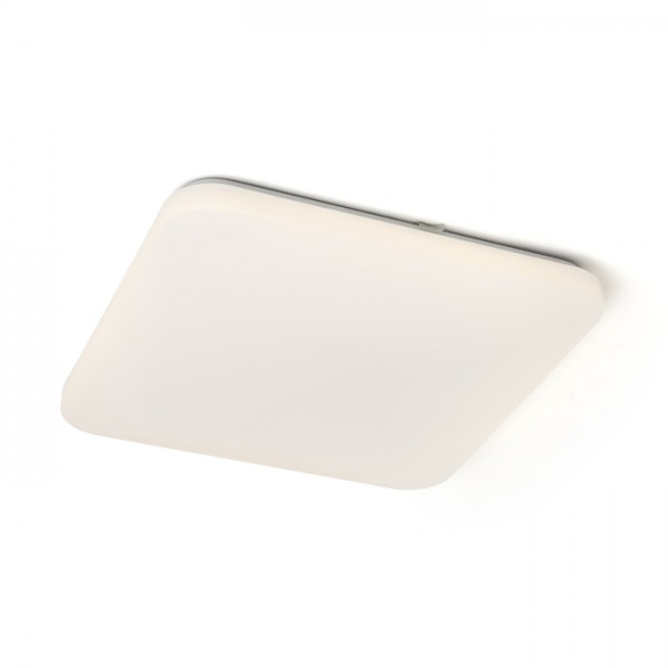 RENDL surface mounted lamp SEMPRE SQ 43 ceiling frosted acrylic 230V LED 36W 3000K R12437 1