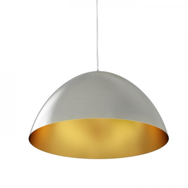 RENDL pendent MERYLYN 48 pendent brushed aluminum/golden colour 230V E27 42W R12446 1