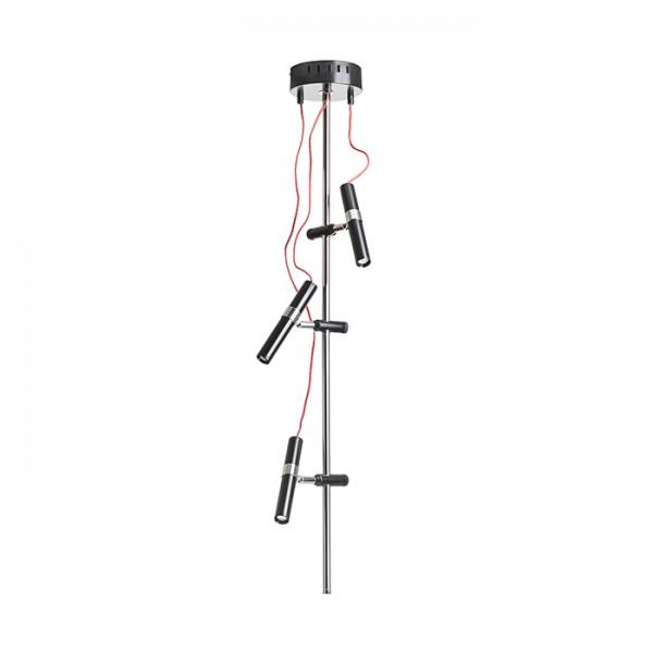 RENDL suspension VIPER III plafond noir chrome 230V LED 3x3W 60° 3000K R12460 1