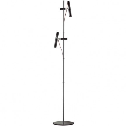 RENDL floor lamp VIPER FL black chrome 230V LED 2x3W 60° 3000K R12463 1