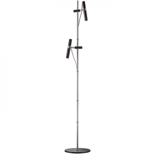 RENDL Podna svjetiljka VIPER FL crna krom 230V LED 2x3W 60° 3000K R12463 1