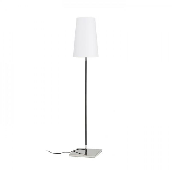 RENDL lámpara de pie LULU en pie blanco/negro cromo 230V E27 28W R12466 1