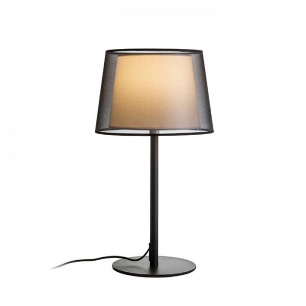RENDL bordlampe ESPLANADE bordlampe sort/hvid krom 230V E27 42W R12484 1