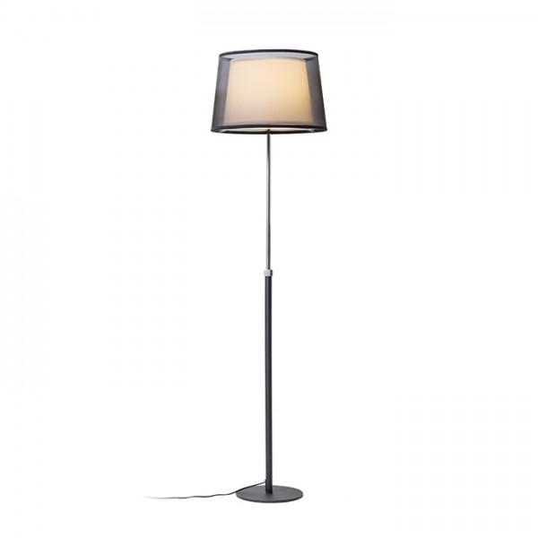 RENDL staande lamp ESPLANADE staande lamp zwart/wit Chroom 230V E27 42W R12485 1