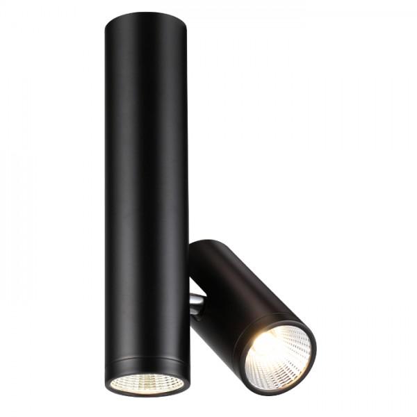 RENDL reflektor BOGARD TWIN stropna mat crna 230V LED 2x5W 40° 3000K R12499 1