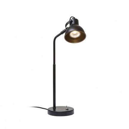 RENDL Tischlampe ROSITA Tischleuchte schwarz/goldgelb 230V LED GU10 9W R12512 1