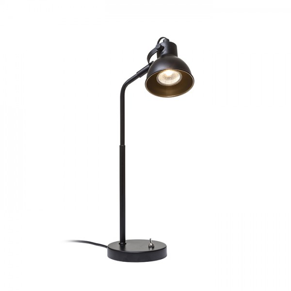 RENDL table lamp ROSITA table black/gold 230V LED GU10 9W R12512 1