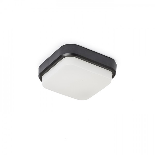 RENDL outdoor lamp TARIS SQ 17 surface mounted black plastic 230V LED 8W IP54 3000K R12525 1