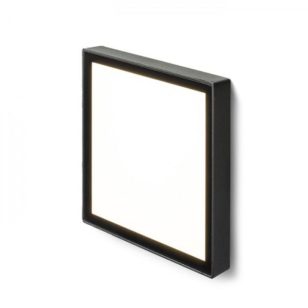 RENDL luminaria de exterior DEJAVU SQ 14 empotrada negro 230V LED 6W IP65 3000K R12531 1