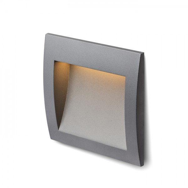 RENDL outdoor lamp GORDIQ M recessed anthracite grey 230V LED 3W IP65 3000K R12536 1
