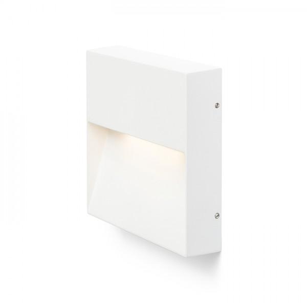 AQILA SQ nástenná biela  230V LED 6W IP54  3000K