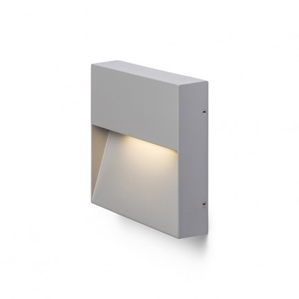 RENDL outdoor lamp AQILA SQ wall grey 230V LED 6W IP54 3000K R12543 1