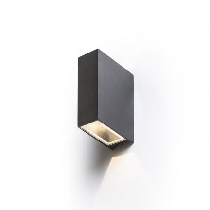 RENDL luminaire d'éxterieur UKKO murale noir 230V LED 2x3W 55° IP54 3000K R12555 1