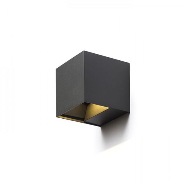 CARRE nástenná antracitová  230V LED 2x3W IP54  3000K