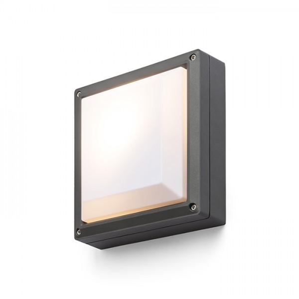 RENDL venkovní světlo DELTA 215 přisazená antracitová 230V E27 18W IP54 R12564 1