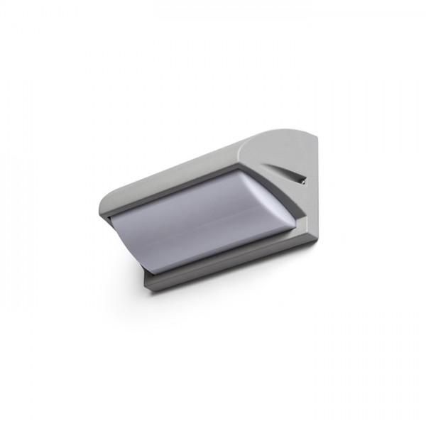 RENDL vanjsko svjetlo MORA zidna srebrno siva 230V E27 18W IP54 R12571 1