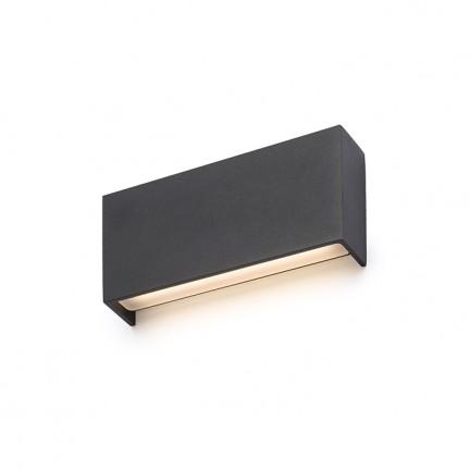 RENDL Aussenleuchte TORINO Wandleuchte schwarz 230V LED 2x5W IP54 3000K R12574 1