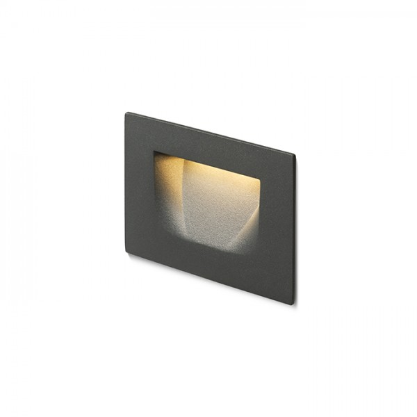 RENDL recessed light PER recessed anthracite grey 230V LED 3W IP54 3000K R12577 1